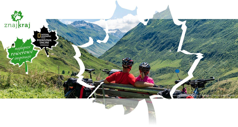 Rowerowy widok na Alpy Szwajcarskie