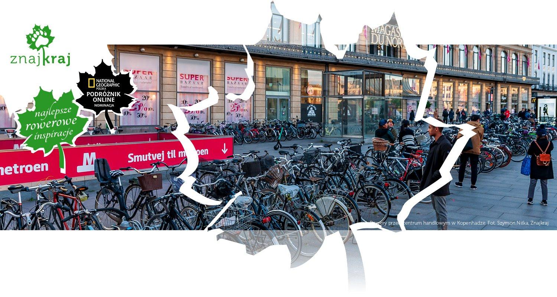 Rowery przed centrum handlowym w Kopenhadze