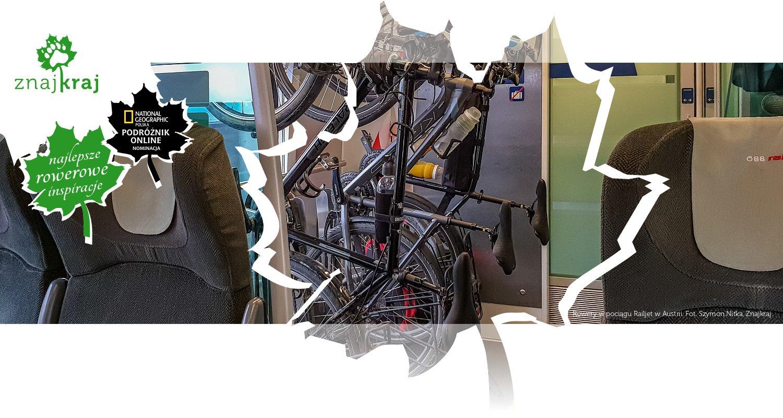 Rowery w pociągu Railjet w Austrii