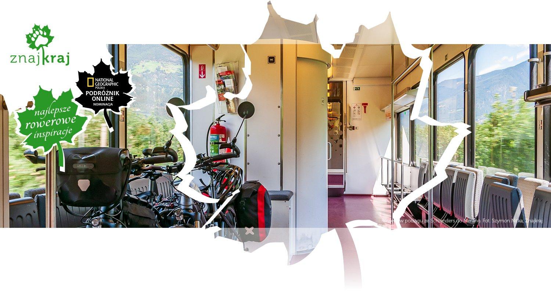 Rowery w pociągu ze Schlanders do Merano