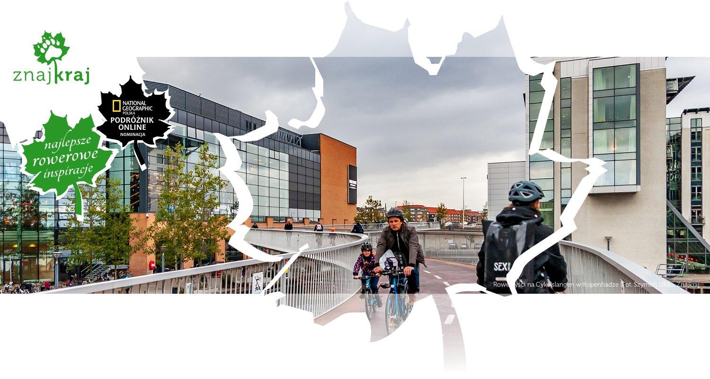Rowerzyści na Cykelslangen w Kopenhadze