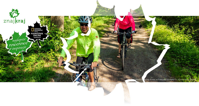 Rowerzyści na dawnej drodze po Półwyspie Helskim