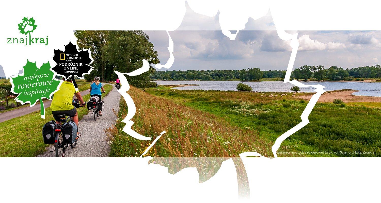 Rowerzyści na drodze rowerowej Łaby
