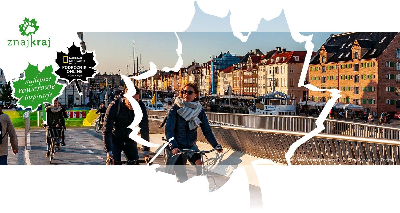 Rowerzyści na moście Inderhavnsbroen w Kopenhadze