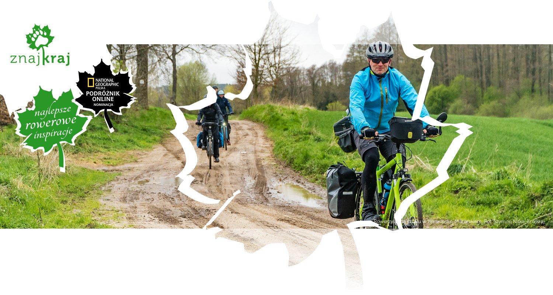 Rowerzyści na szlaku w Warmińsko-Mazurskiem