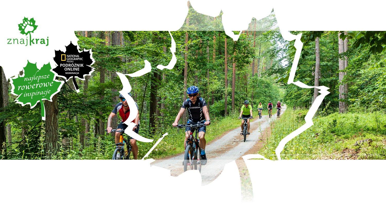 Rowerzyści na trasie rowerowej koło Stegny