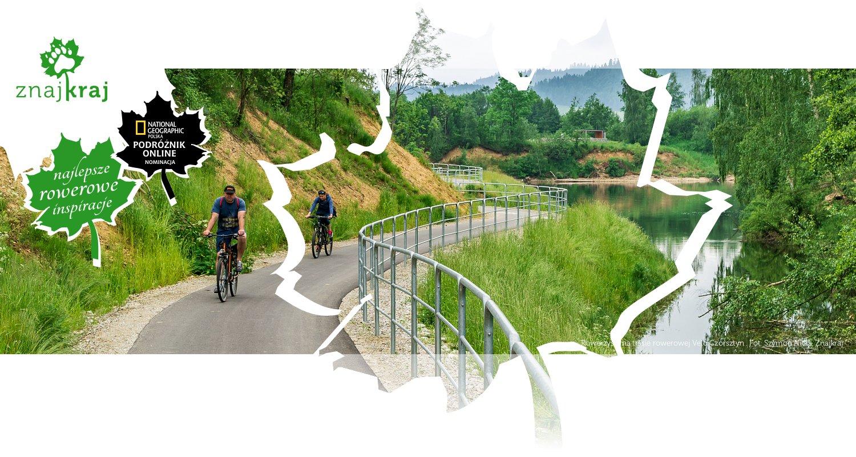 Rowerzyści na trasie rowerowej Velo Czorsztyn