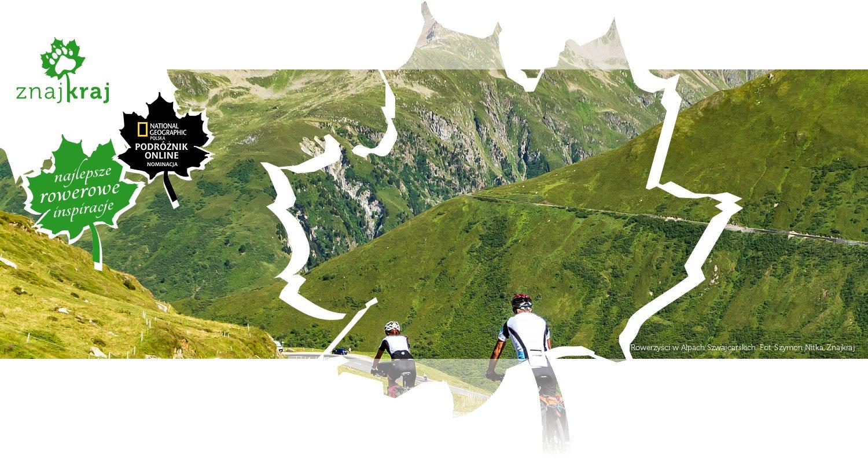 Rowerzyści w Alpach Szwajcarskich