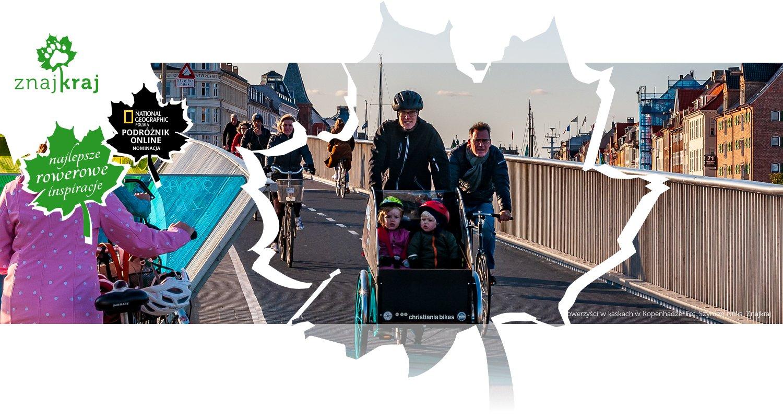 Rowerzyści w kaskach w Kopenhadze
