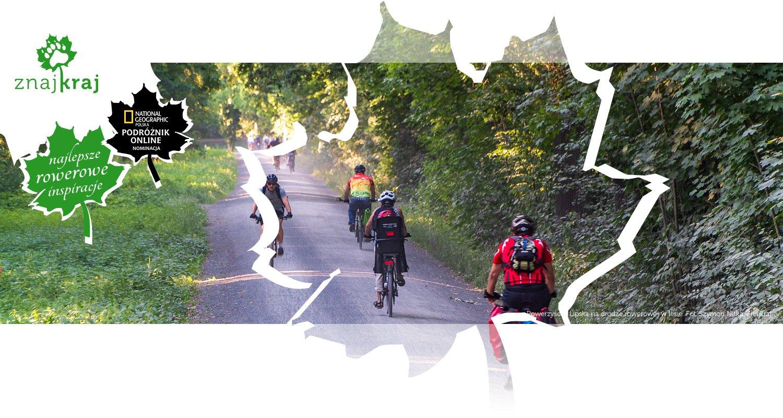 Rowerzyści z Lipska na drodze rowerowej w lesie