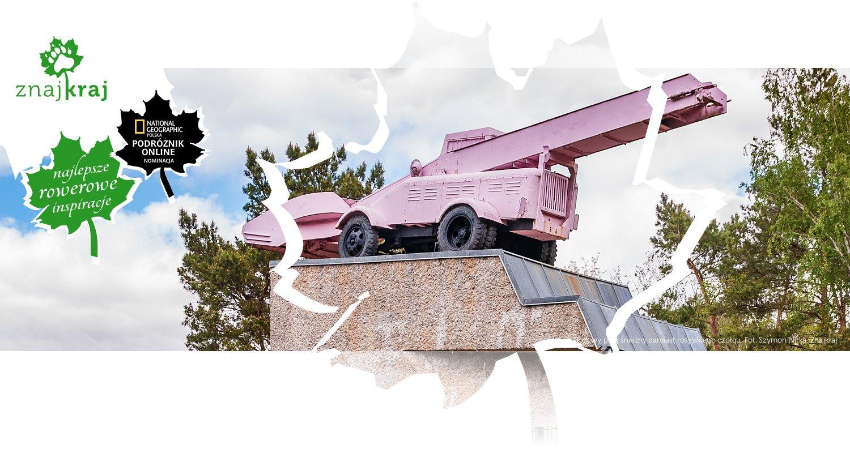 Różowy pług śnieżny zamiast rosyjskiego czołgu