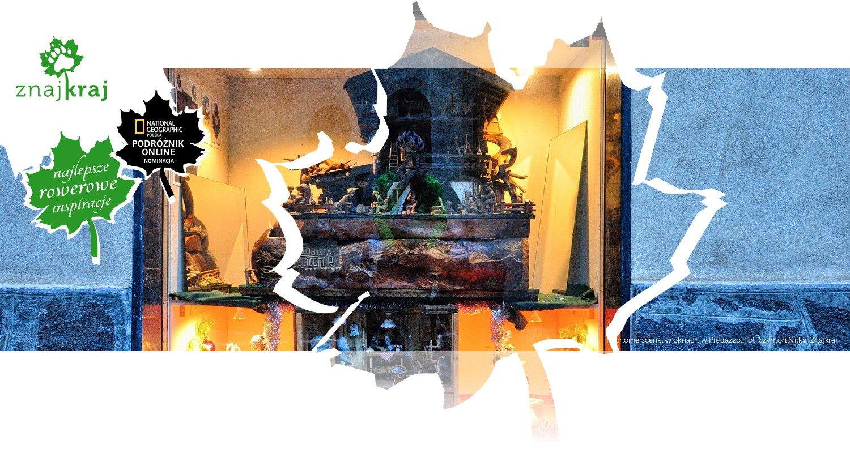 Ruchome scenki w oknach w Predazzo