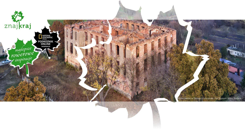 Ruina zamku w Słońsku z lotu ptaka