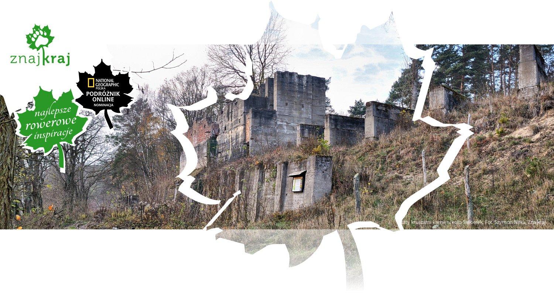 Ruiny kruszarni kamieni koło Siekierek