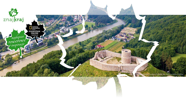 Ruiny zamku w Rytrze nad wodami Popradu