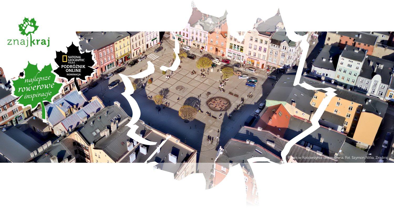 Rynek w Kościerzynie okiem drona