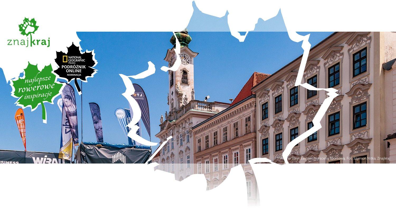 Rynek w Steyr zastawiony sceną sportową