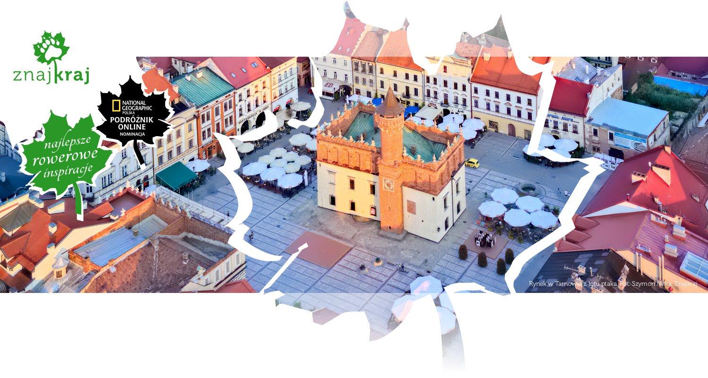 Rynek w Tarnowie z lotu ptaka
