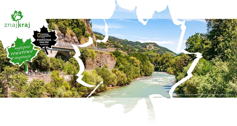Rzeka Isarco w Południowym Tyrolu