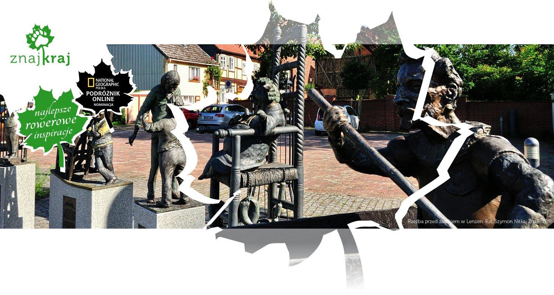 Rzeźba przed zamkiem w Lenzen
