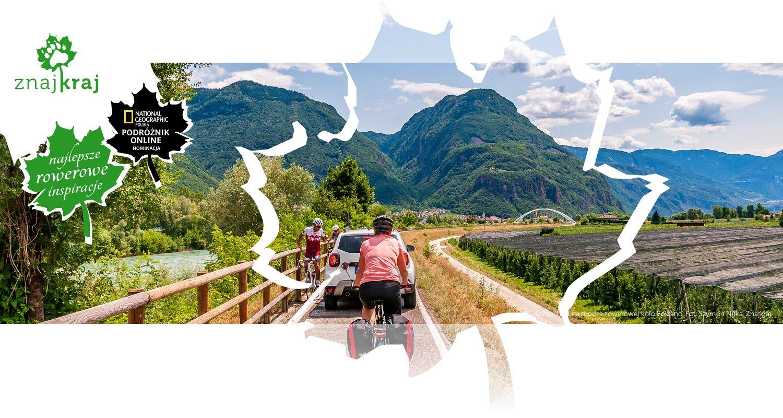 Samochód na drodze rowerowej koło Bolzano