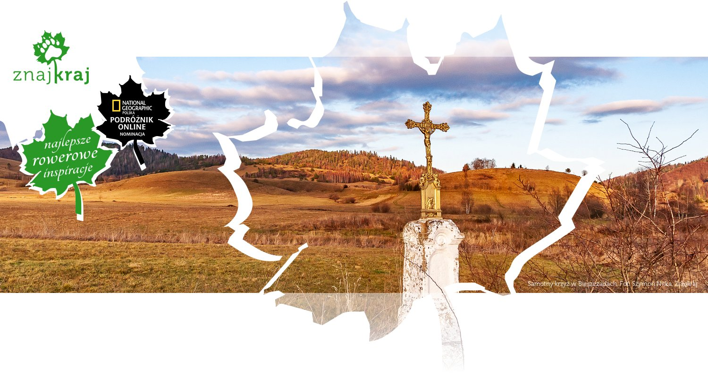 Samotny krzyż w Bieszczadach