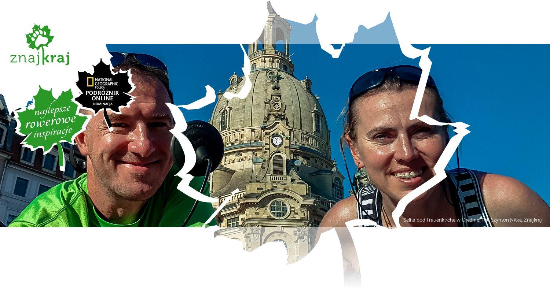 Selfie pod Frauenkirche w Dreźnie