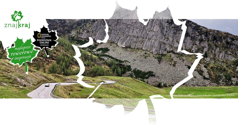 Serpentyny na zjeździe z Passo Rolle