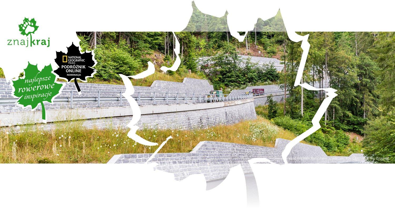 Serpentyny przed Wielkim Kanionem Szwajcarii