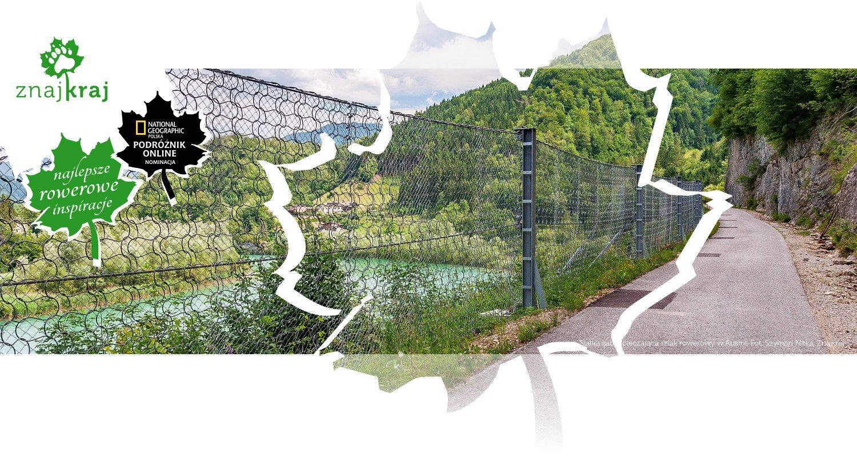 Siatka zabezpieczająca szlak rowerowy w Austrii