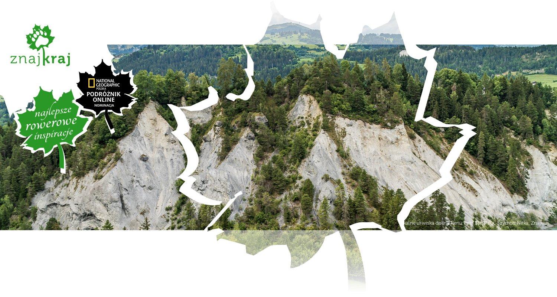 Skalne urwiska doliny Renu koło Ilanz