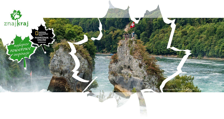 Skały wodospadu na Renie w Szwajcarii