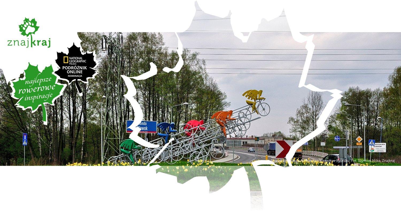 Skrzydlaci kolarze na Rondzie Wawok w Rybniku