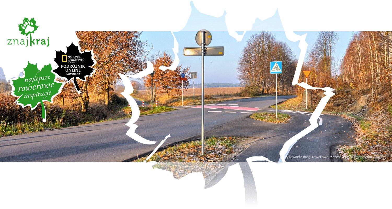 Skrzyżowanie drogi rowerowej z szosą