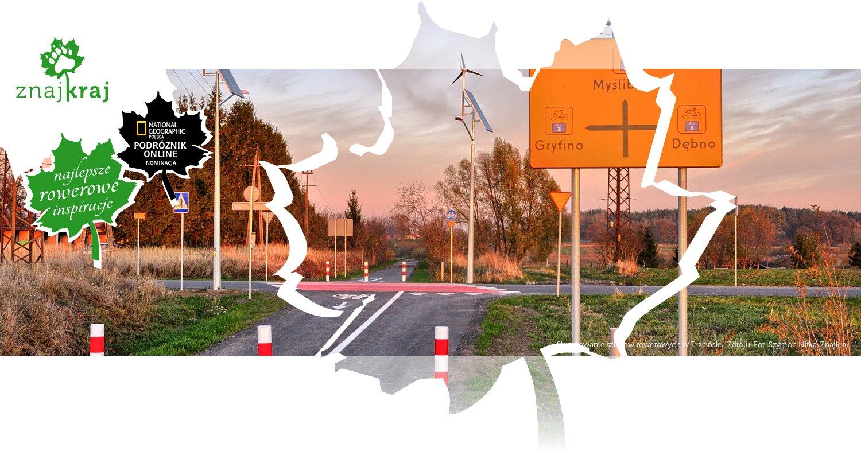 Skrzyżowanie szlaków rowerowych w Trzcińsku-Zdroju