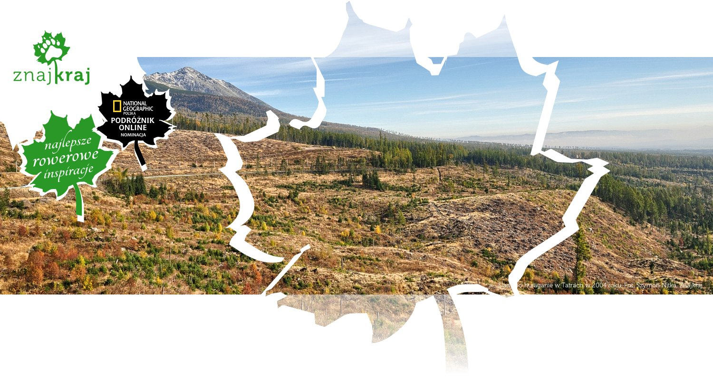 Ślady po huraganie w Tatrach w 2004 roku