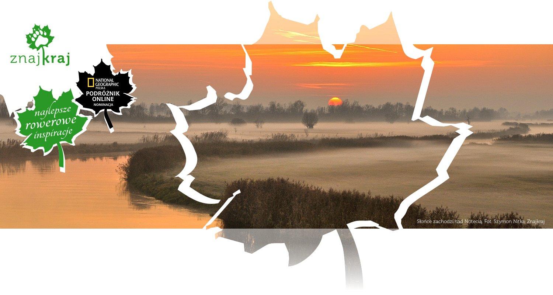 Słońce zachodzi nad Notecią
