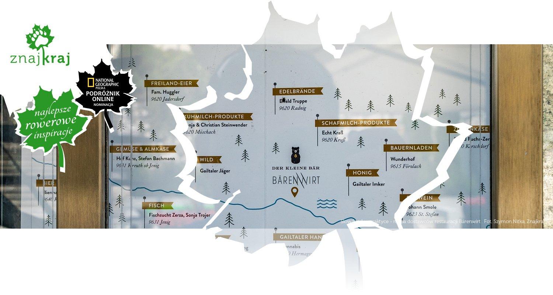 Slow food w praktyce - mapa dostawców restauracji Bärenwirt
