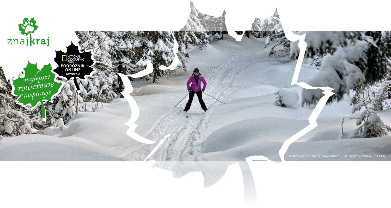 Śniegowe muldy na biegówkach