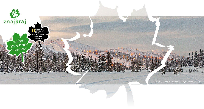 Śnieżne krajobrazy Finlandii