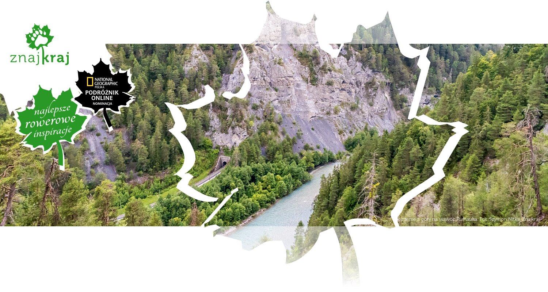 Spojrzenie z góry na wąwóz Ruinaulta