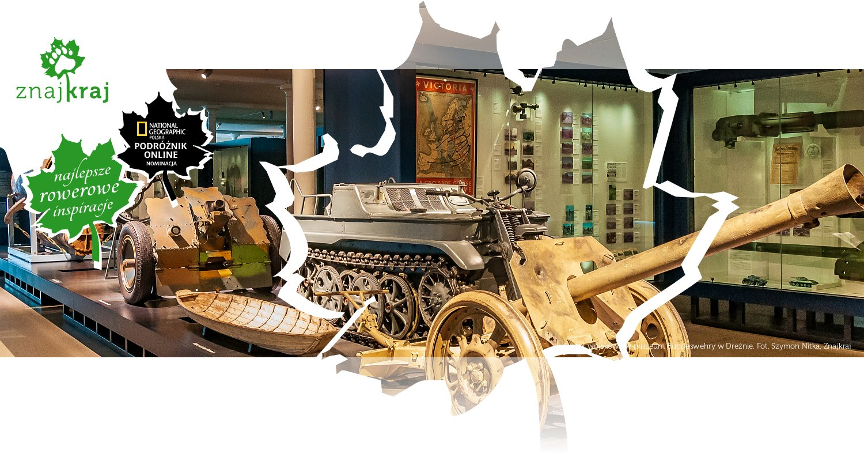 Sprzęt wojskowy w muzeum Bundeswehry w Dreźnie
