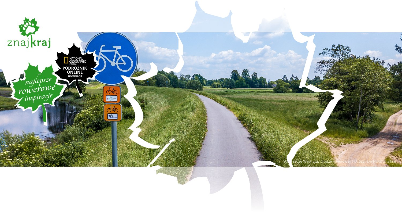 Starorzecze Wisły przy drodze rowerowej