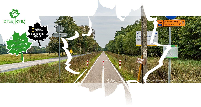 Stary Kolejowy Szlak - początek drogi kolejowej koło Połczyna