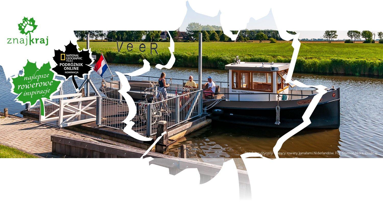 Statek turystyczny wożący rowery kanałami Niderlandów
