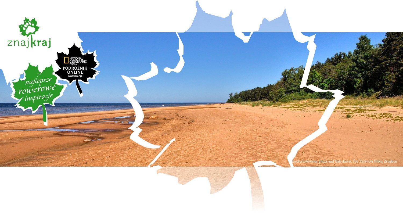 Szeroka łotewska plaża nad Bałtykiem