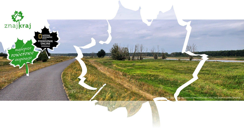 Szerokie krajobrazy na rowerowym szlaku nad Odrą