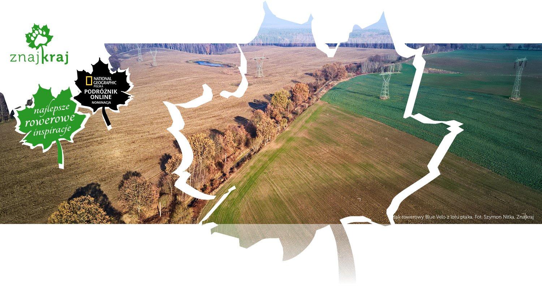 Szlak rowerowy Blue Velo z lotu ptaka