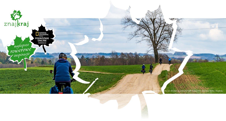 Szlak rowerowy po drodze gruntowej koło Iławy