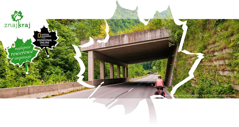 Szlak rowerowy po drodze publicznej w Austrii